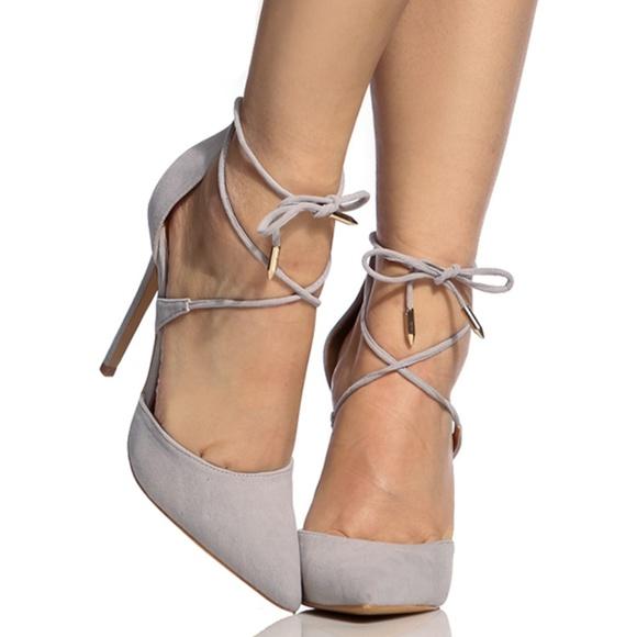 b8e8ecb7bba3 Misty Grey Lace Up D-Orsay Pointed Toe Heel. Boutique. Shoe Republic LA.  M 5ac4701ef9e501323faf3cf7. M 5ac470232c705d32ad86826d.  M 5ac4701f50687c90eb420767
